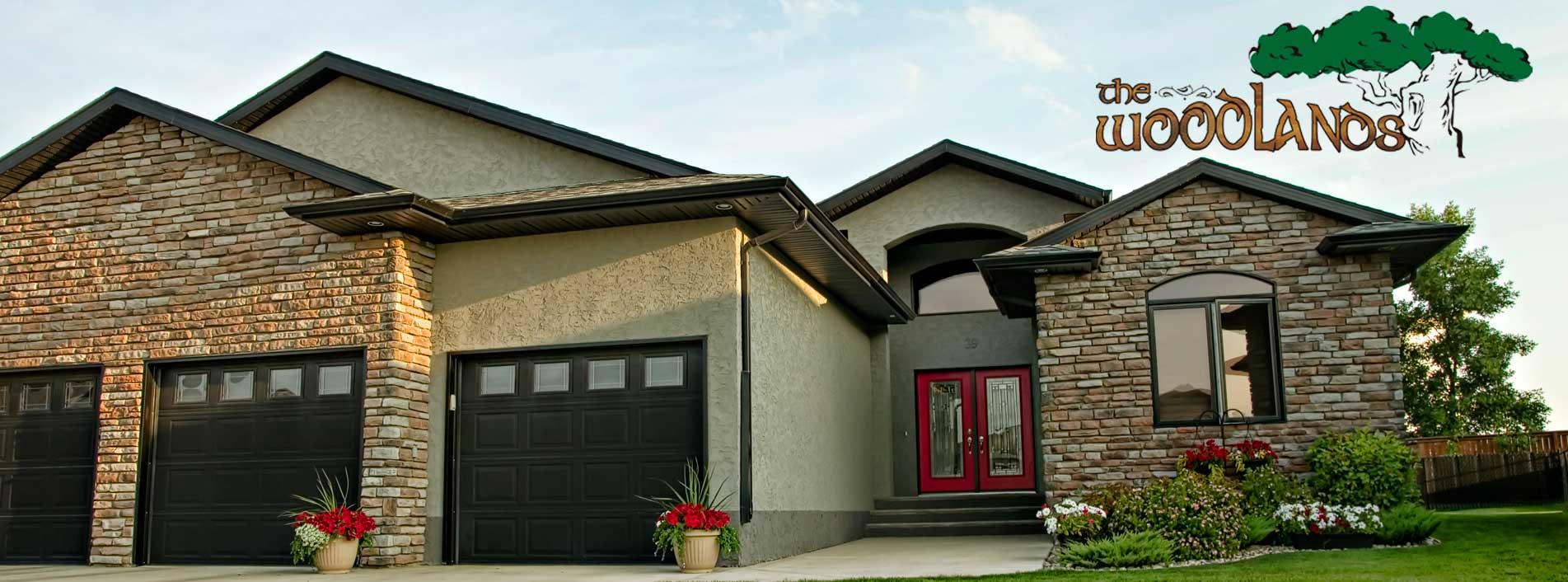 Woodlands Header, Southridge Estates, VBJ Developments, Brandon, J&G Homes